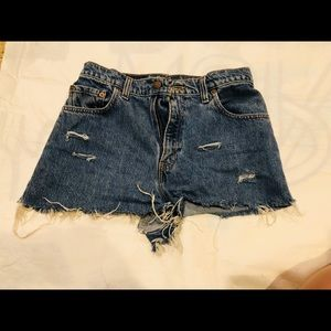 Levi's high waisted 551 shorts relaxed fit